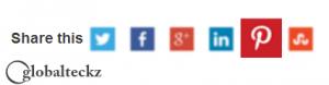 Pinterest social media sharing