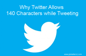 Why twitter allows 140 Characters while tweeting