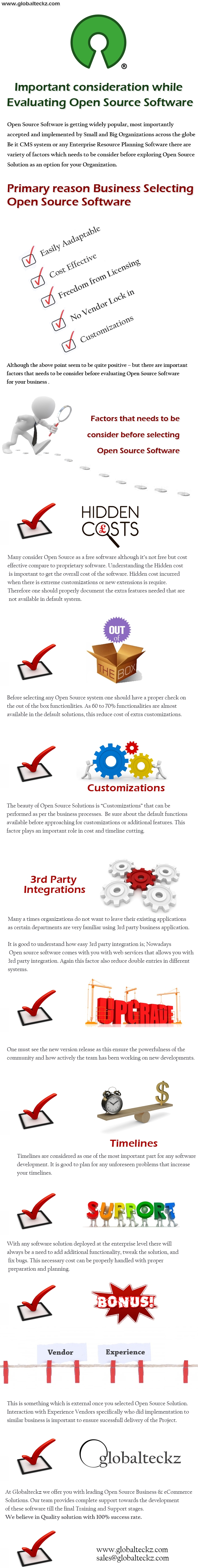 best open source software, key consideration for open source, IMPORTANT CONSIDERATION WHILE EVALUATING OPEN SOURCE SOFTWARE – INFOGRAPHICS