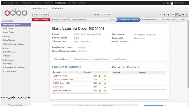odoo manufacturing module, odoo manufacturing app, odoo erp manufacturing, erp for manufacturing, MRP Odoo, Odoo advance manufacturing, manufacturing erp software
