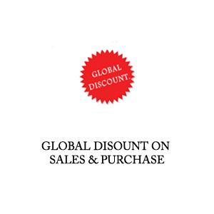global discount on sales and purchase
