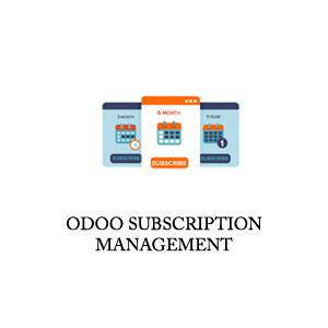 odoo subscription management app
