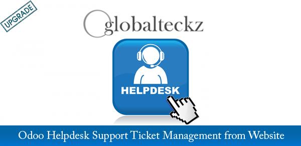 Odoo Helpdesk Support Ticket Management from Website