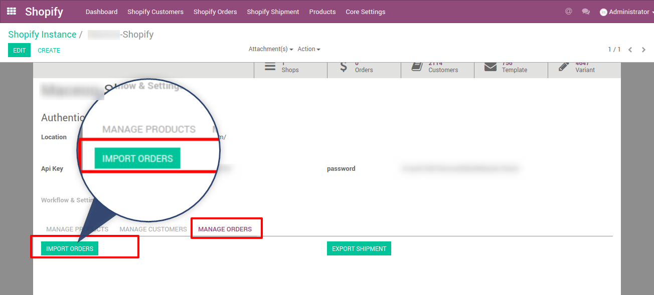 import your shopify orders into Odoo