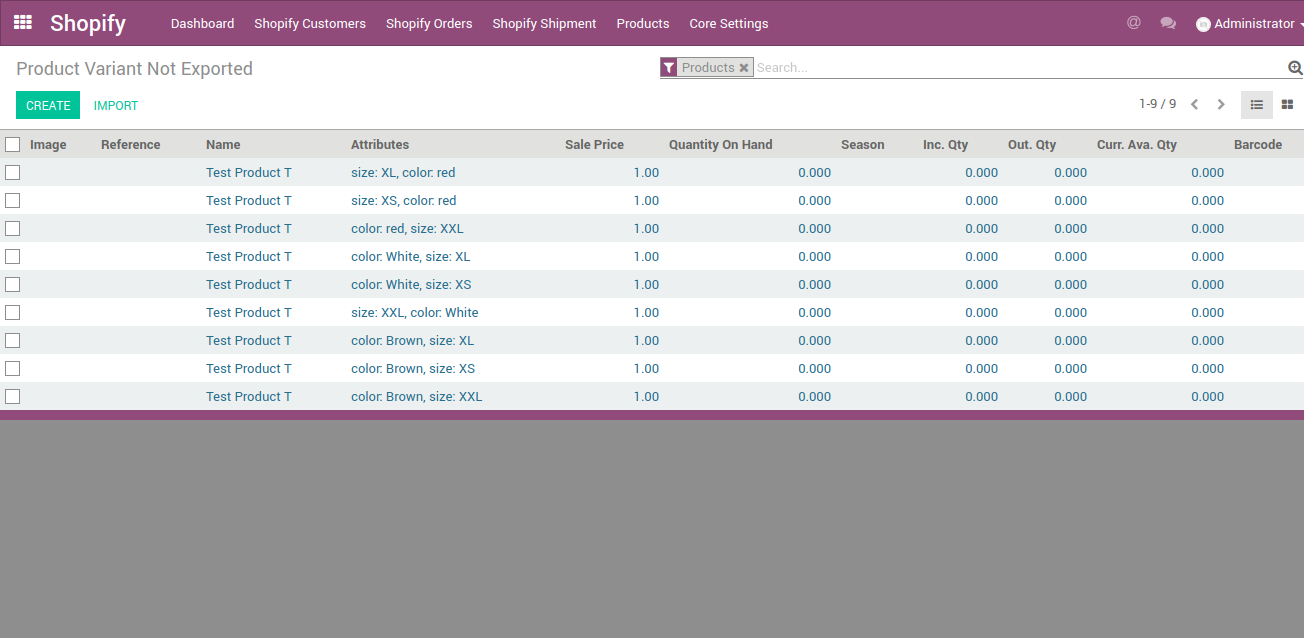 product variants creation in odoo for your shopify store