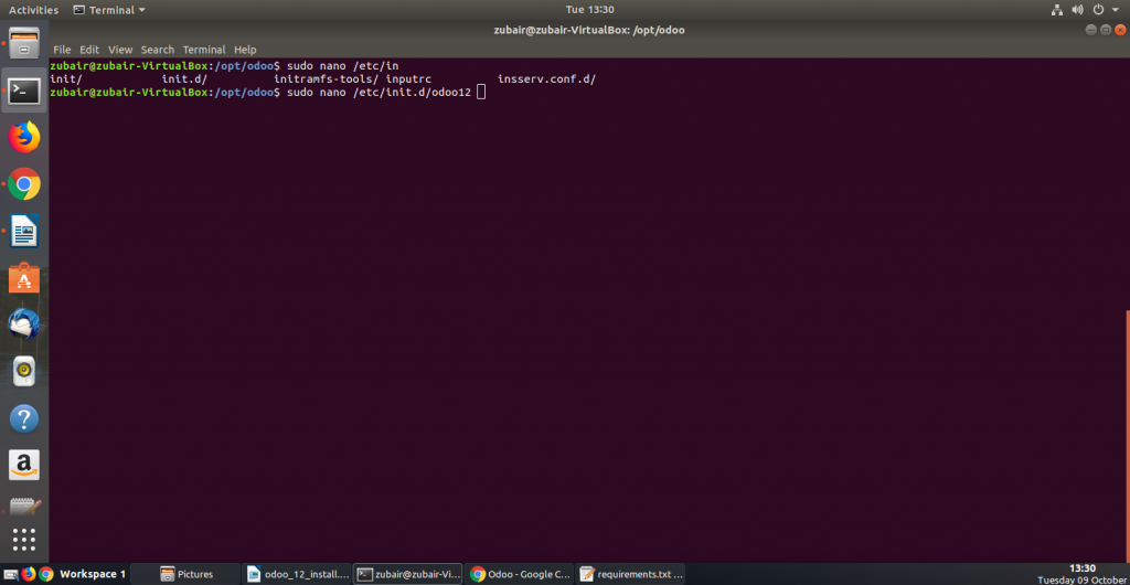 Odoo 12 installation on ubuntu