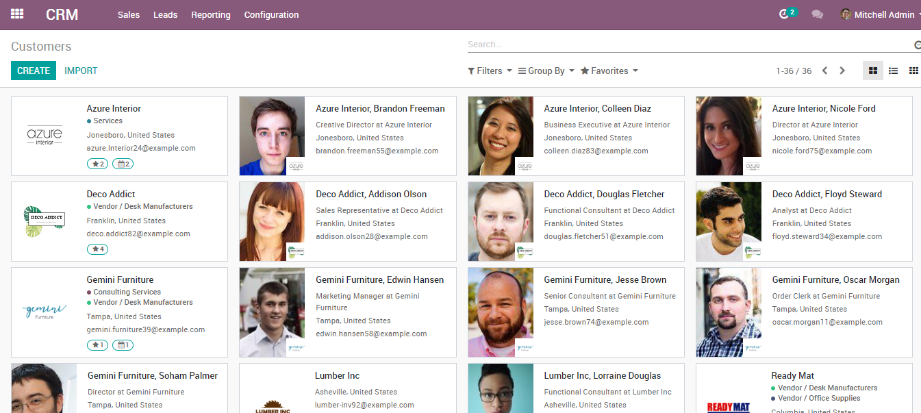 address book management in odoo