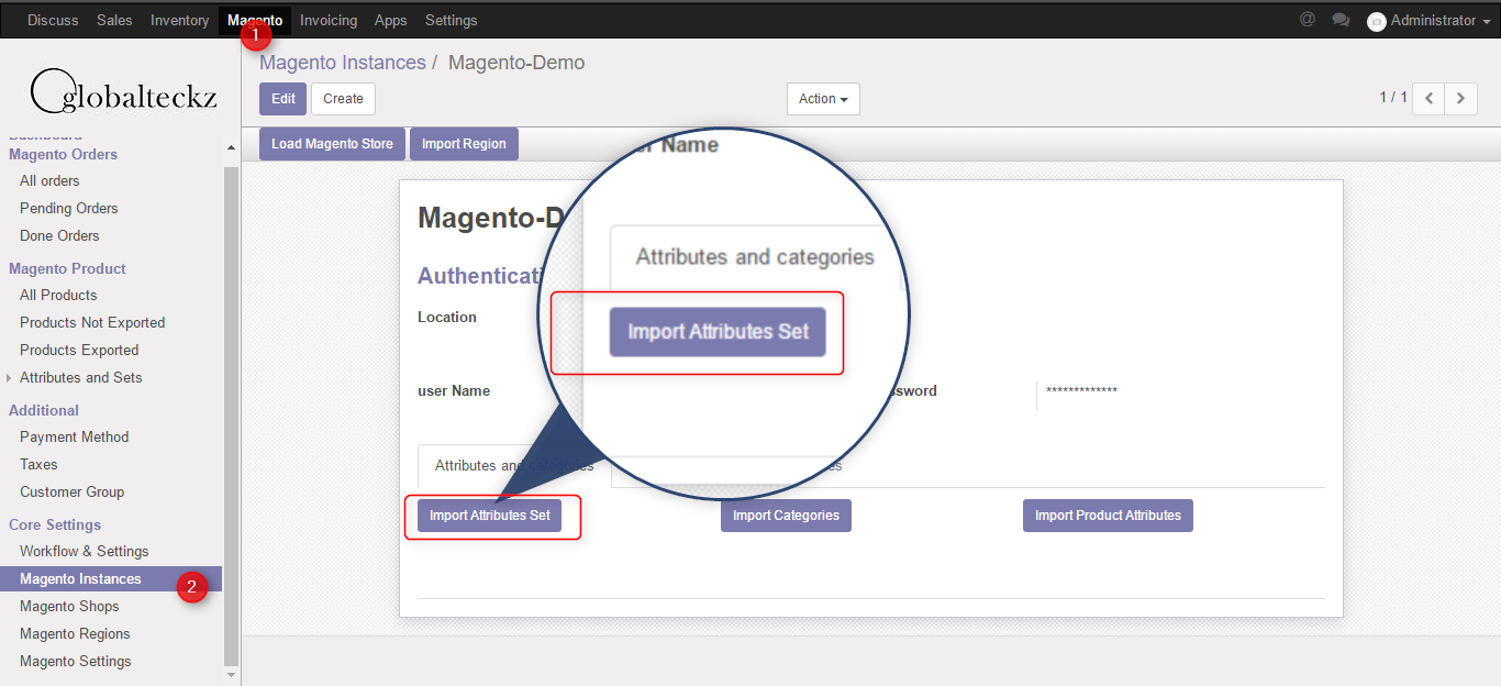 import from magento 2 to odoo software