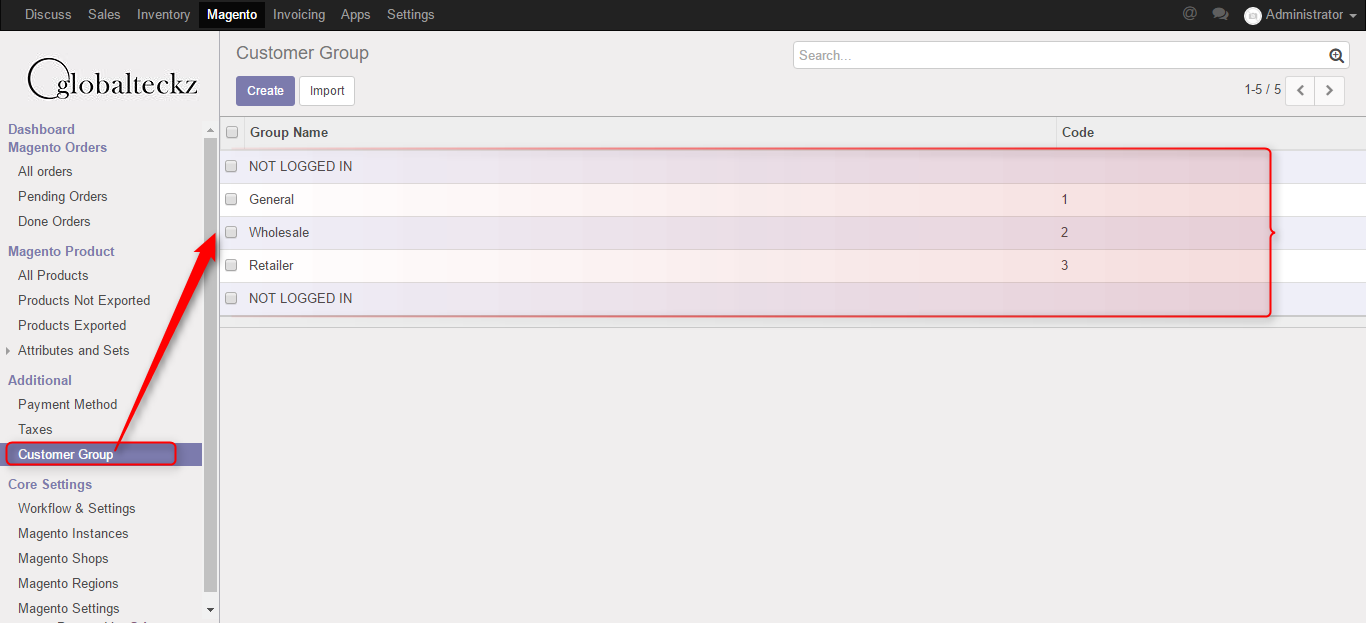 importing from magento to odoo