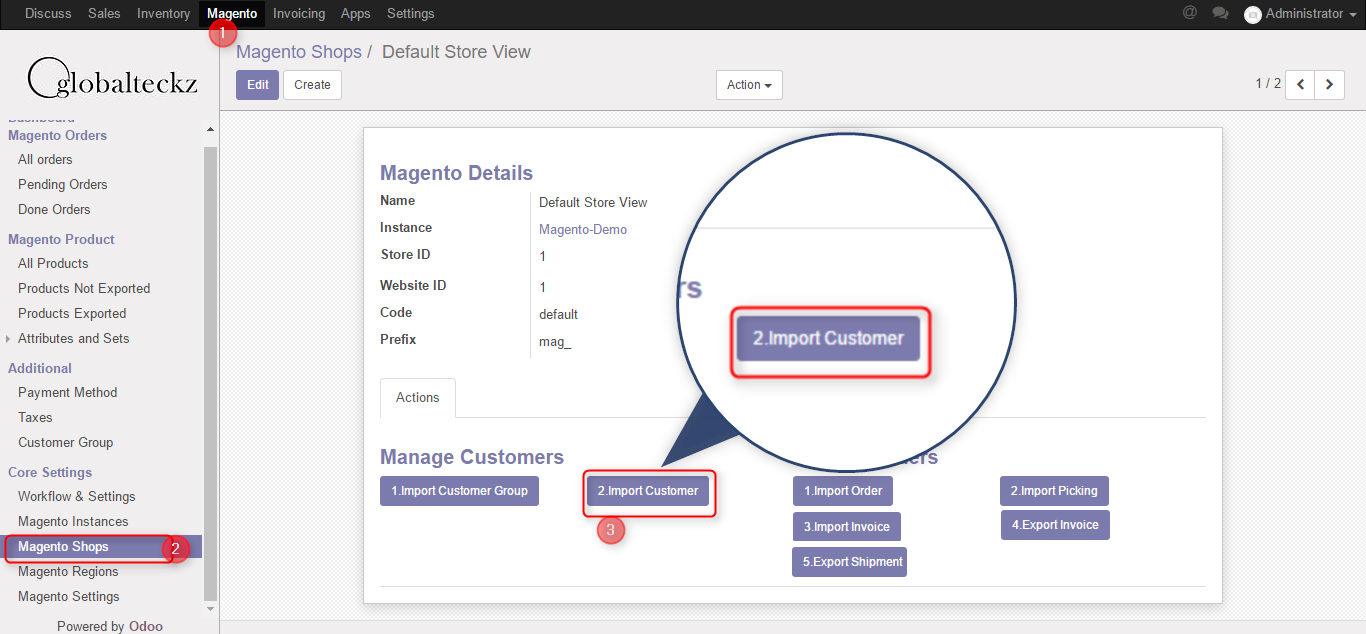 magento 2 odoo connect