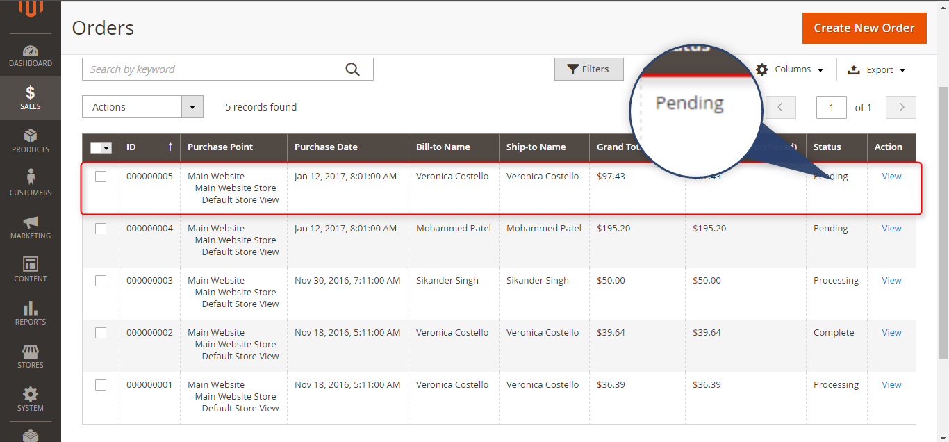 exporting invoices in magento 2 from odoo