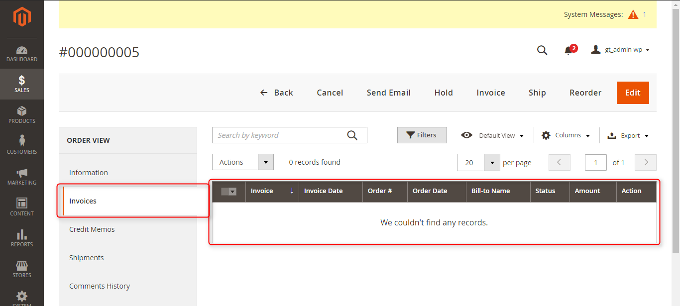invoices from odoo in magento