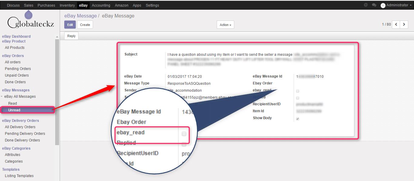 ebay messages