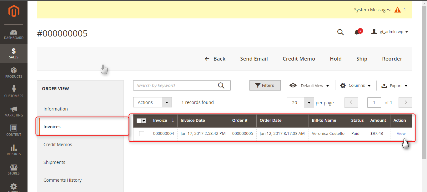 exprting of invoices from odoo erp to magento 2