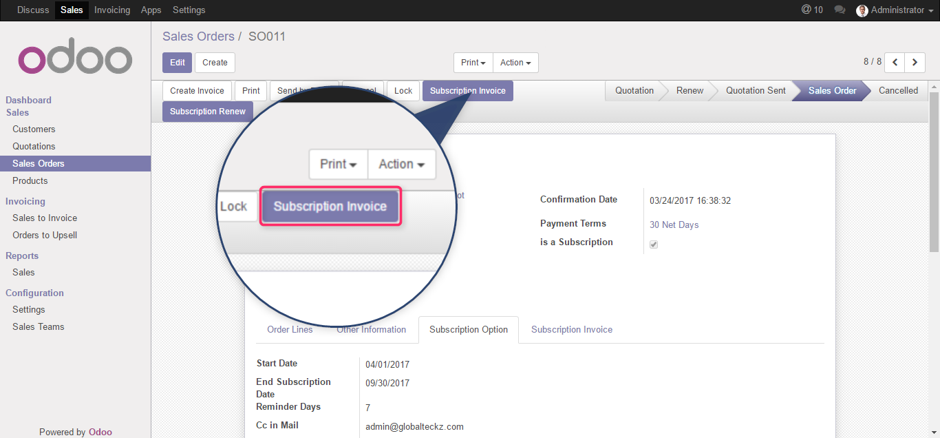 invoicing management monthly