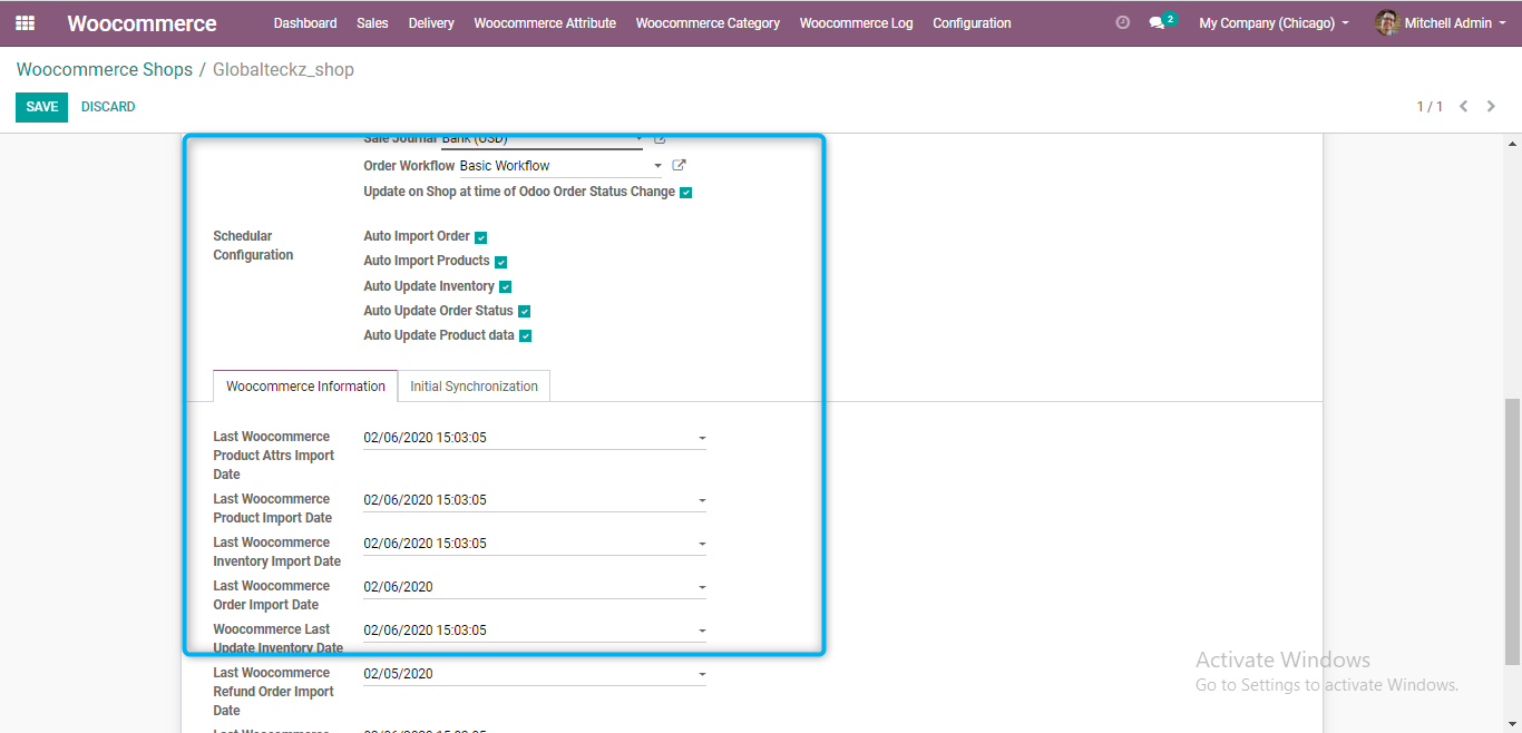 last import from woocommerce into odoo