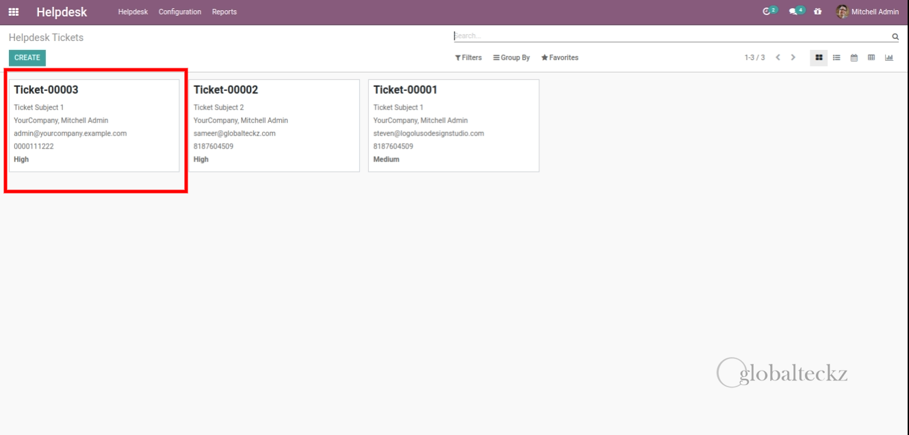 display-the-Ticket support ticket