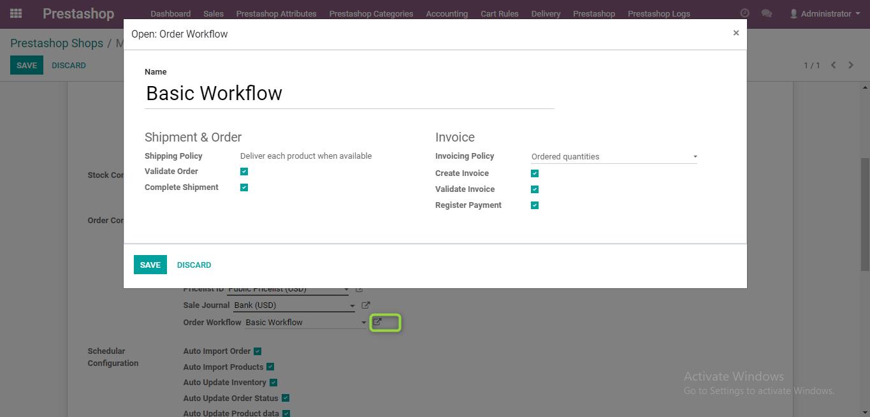 Order workflow management
