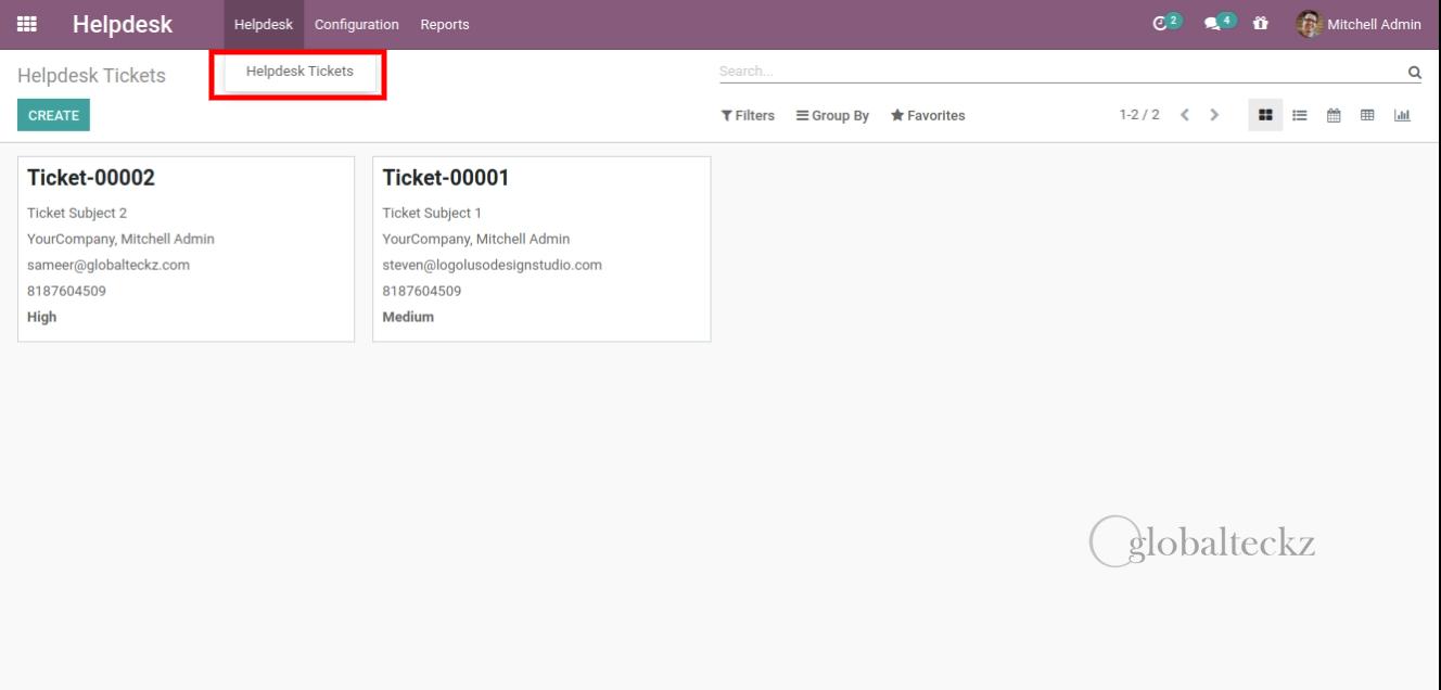 Helpdesk-Tickets support tickets