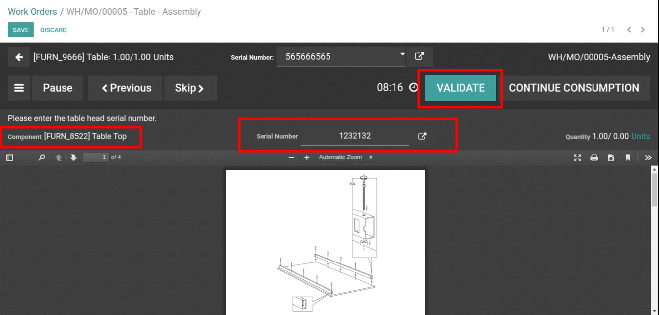 Validate the Product with serial number