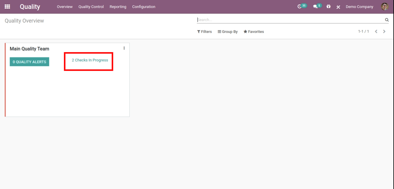 quality check module in Odoo manufacturing