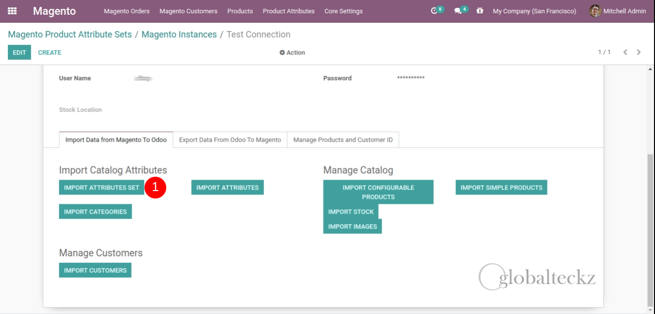 importing product attributes from magento to odoo