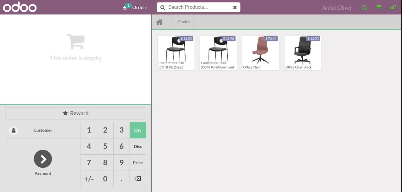 Odoo POS window terminal