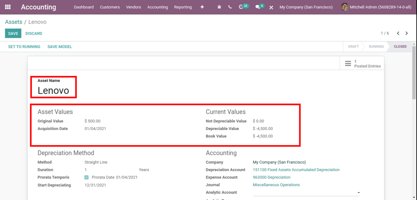 assets management in odoo