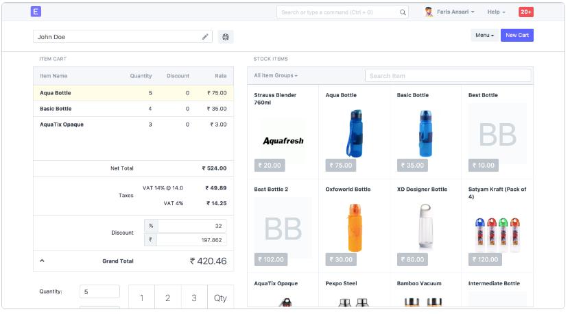 ERPNext Point of sales - POS Module