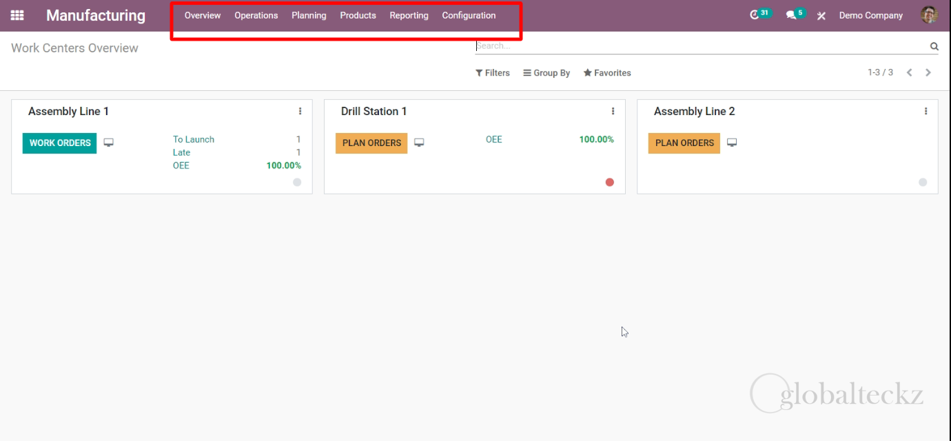 an overview of odoo manufacturing module