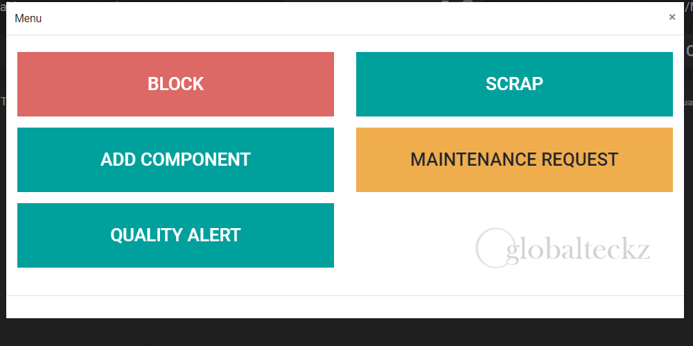 where to scrap the components in odoo
