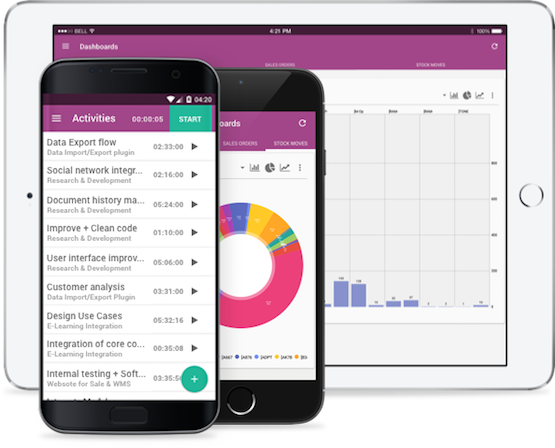 Mobile interface in odoo crm