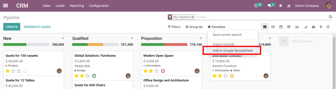 meeting management in odoo crm features